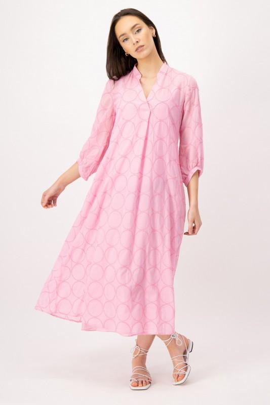 Besticktes Midi Kleid in Rosa von LOUIS and MIA
