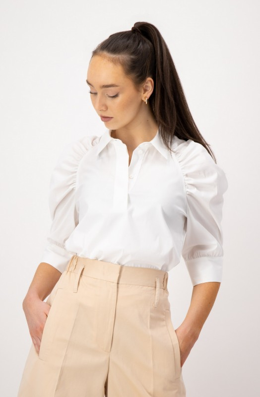 Bluse mit verdeckter Knopfleiste von LOUIS and MIA