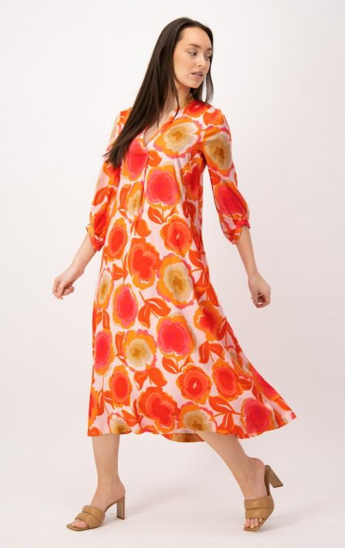 Langes Kleid mit V-Ausschnitt von LOUIS and MIA