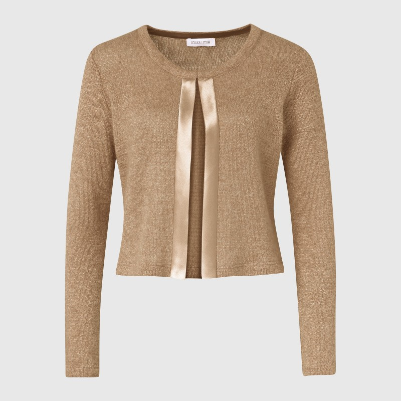 Cropped Strickjacke aus Strick in Beige von LOUIS and MIA