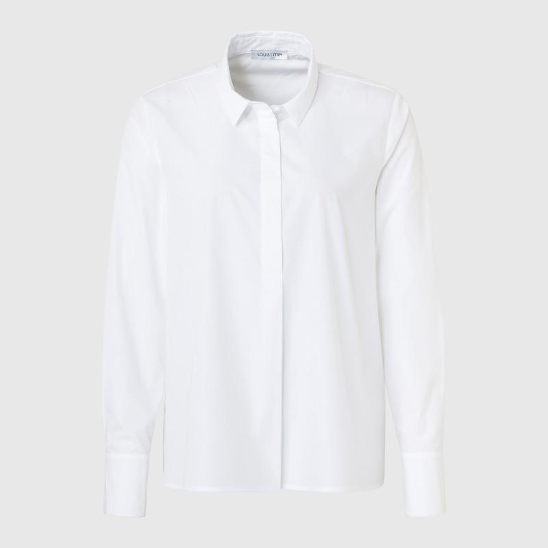 Bluse mit Hemdkragen in Weiß von LOUIS and MIA