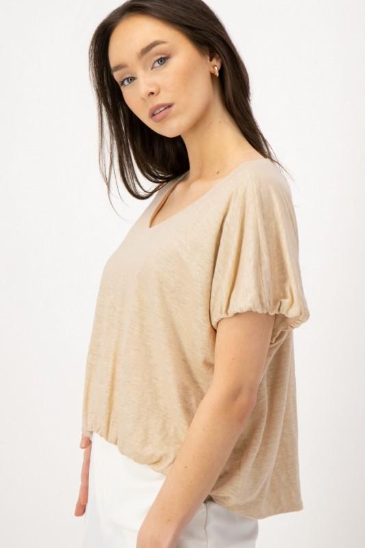 Shirt mit modischen Raffungen am Saum von LOUIS and MIA