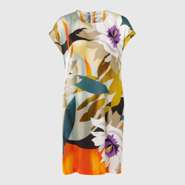 Kurzarm-Kleid im Tropical Flower-Print von LOUIS and MIA