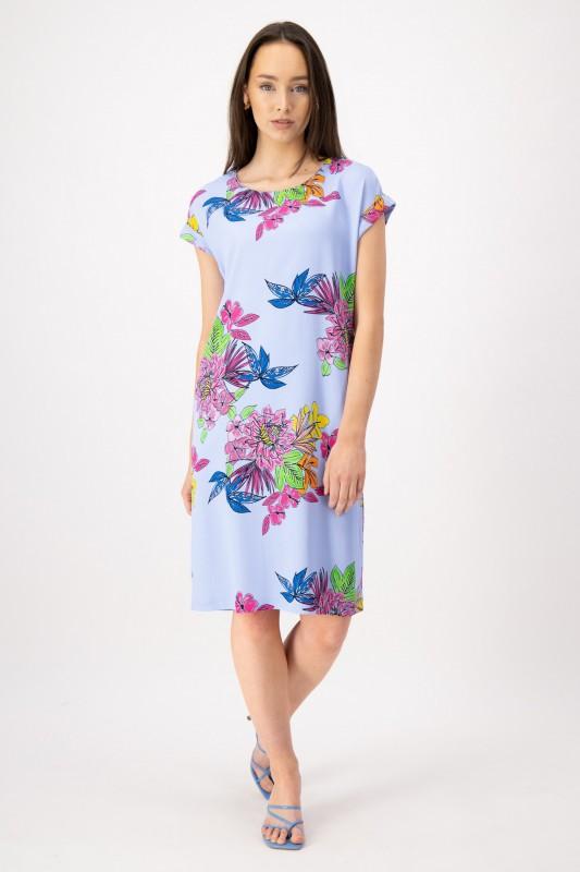Knielanges Kleid mit Blumenmuster von LOUIS and MIA