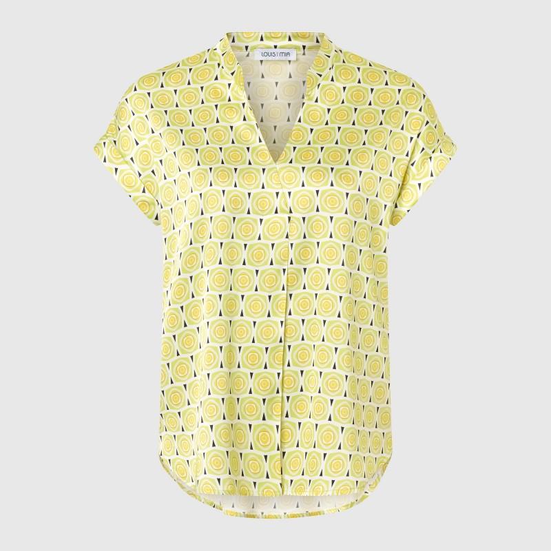 Kurzarm Shirtbluse mit Retro Print von LOUIS and MIA
