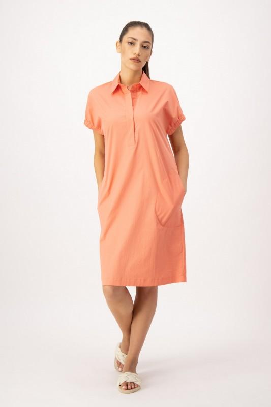 Hemdblusenkleid in Orange von LOUIS and MIA