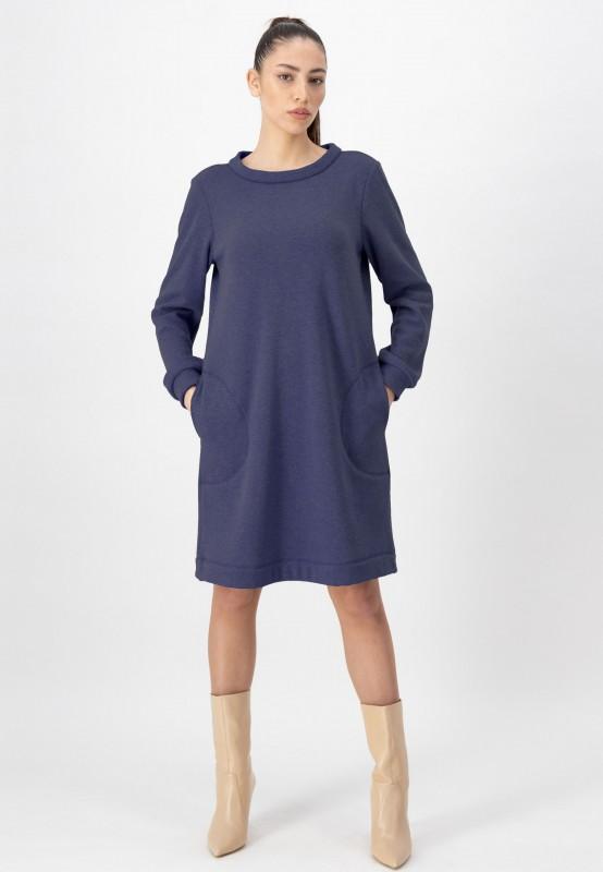 Blaues Sweatshirt Kleid von LOUIS and MIA