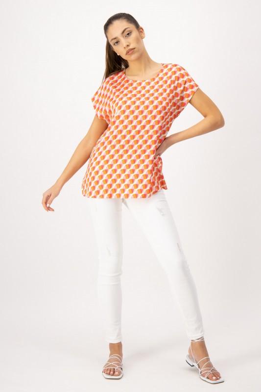 Shirt mit Print in Pink und Orange von LOUIS and MIA