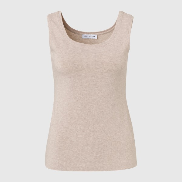 Basic-Top in Beige von LOUIS and MIA