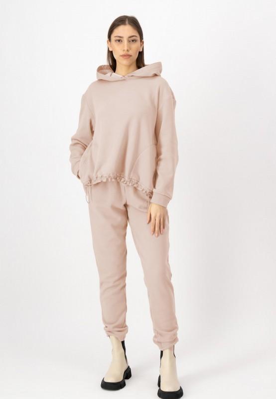 Oversize Hoodie mit Kapuze aus weichem Material von LOUIS and MIA