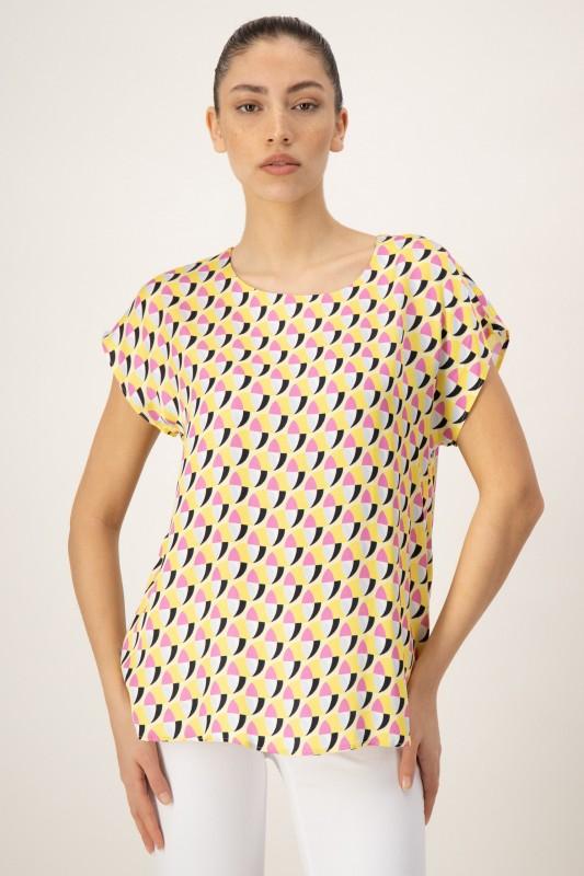 Shirtbluse mit Retro Print von LOUIS and MIA