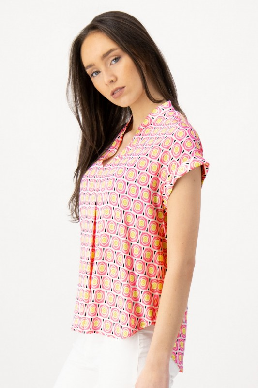 Shirtbluse mit Retro Print von LOUIS and MIA