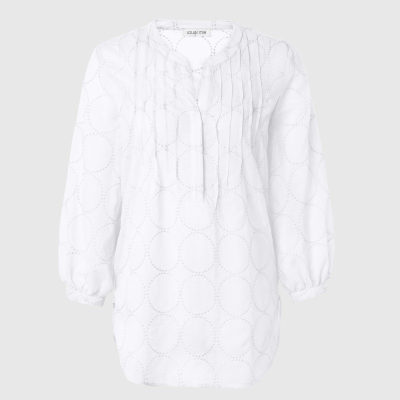 Weiße bestickte Tunika aus Baumwolle von JUST WHITE