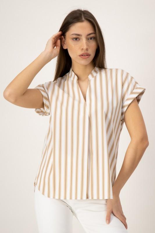 Hochwertige Bluse mit V-Ausschnitt von LOUIS and MIA