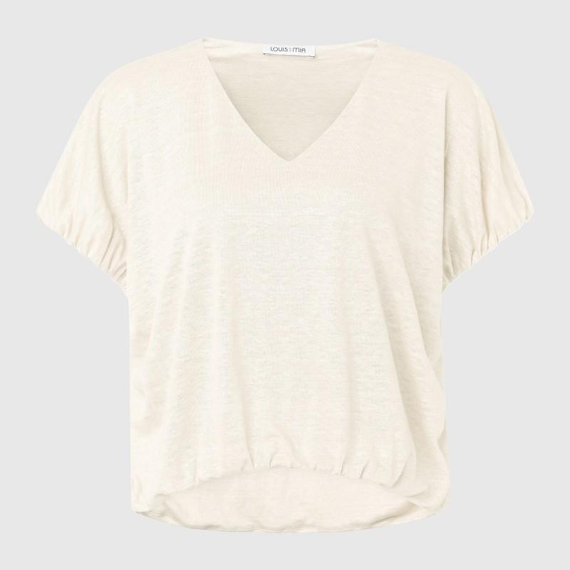 Shirt aus Leinen in Weiß