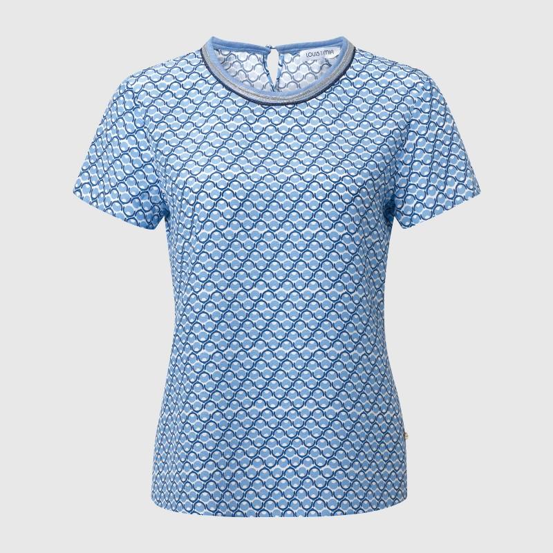 Bluse mit Print in Blau und Weiß von LOUIS and MIA