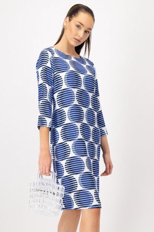 Kleid mit Punkten (Blau, Weiß) von LOUIS and MIA