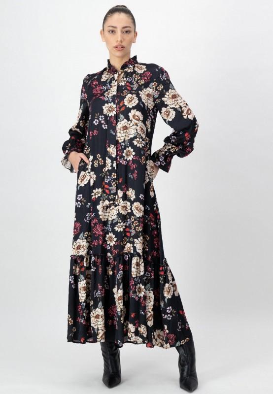 Langes Kleid mit Blumen Muster von LOUIS and MIA